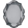 Swarovski 4142 Baroque Mirror Fancy Stone Crystal Silver Night 10x8mm