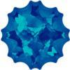 Swarovski 4195 Jelly Fish Fancy Stone, Partly Frosted Crystal Bermuda Blue 14mm