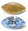 Swarovski 4200/2 Navette Fancy Stone (Table Cut) Aquamarine 10x5mm