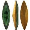 Swarovski 4200 Navette Fancy Stone Green Tourmaline (Gold Foil) 15x4mm