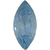 Swarovski 4200 Navette Fancy Stone Light Sapphire (Gold Foil) 15x4mm