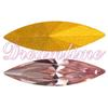 Swarovski 4200 Navette Fancy Stone Light Rose (Gold Foil) 15x4mm