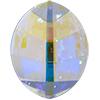 Swarovski 4224 Pure Leaf Fancy Stone Crystal AB 23x18mm