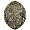 Swarovski 4224 Pure Leaf Fancy Stone Crystal Gold Patina 23x18mm
