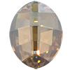 Swarovski 4224 Pure Leaf Fancy Stone Crystal Golden Shadow 23x18mm