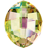 Swarovski 4224 Pure Leaf Fancy Stone Crystal Luminous Green 23x18mm