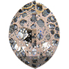Swarovski 4224 Pure Leaf Fancy Stone Crystal Rose Patina 23x18mm