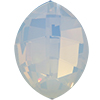 Swarovski 4224 Pure Leaf Fancy Stone White Opal 23x18mm