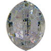 Swarovski 4224 Pure Leaf Fancy Stone Crystal White Patina 23x18mm