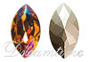 Swarovski 4200/2 Navette Fancy Stone (Table Cut) Brandy 6x3mm