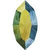 Swarovski 4228 Navette Fancy Stone Crystal Iridescent Green 8x4mm