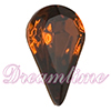 Swarovski 4300/2 Pear Shaped Fancy Stone (Table Cut) Smoked Topaz 10x6mm