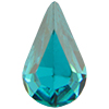 Swarovski 4300 Pear Shaped Fancy Stone Blue Zircon 8x4.8mm