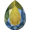Swarovski 4320 Pear Shaped Fancy Stone Crystal Iridescent Green 6x4mm