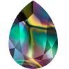 Swarovski 4320 Pear Shaped Fancy Stone Crystal Rainbow Dark 14x10mm