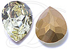 Swarovski Vintage 4320 Pear Shaped Fancy Stone Jonquil (Gold Foiled) 8x6mm