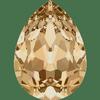 Dreamtime Crystal DC 4320 Pear Shaped Fancy Stone Crystal Golden Shadow 14x10mm