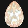Dreamtime Crystal DC 4320 Pear Fancy Stone Crystal Ivory Cream DeLite 18x13mm