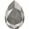 Swarovski 4327 Large Pear Shaped Fancy Stone Crystal Dark Grey 30x20mm