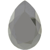 Swarovski 4327 Large Pear Shaped Fancy Stone Jet Metallic Silver 40x27mm