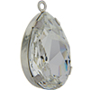 Swarovski 4327 Pear Fancy Stone in Rhodium Setting with Loop