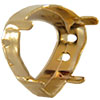Swarovski 4370S Setting for Rounded Pear Shaped Fancy Stone Gold 11x10mm