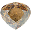 Swarovski 4370 Rounded Pear Shaped Fancy Stone Crystal Golden Shadow 15.5x14mm