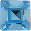Swarovski 4400 Square Vintage Fancy Stone Aquamarine 4mm