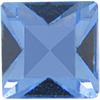Swarovski 4400 Square Vintage Fancy Stone Light Sapphire 2.3mm