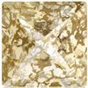 Swarovski 4418 Xilion Pointed Square Fancy Stone Crystal Gold Patina 6mm