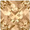 Swarovski 4418 Xilion Pointed Square Fancy Stone Crystal Golden Shadow 6mm