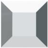 Swarovski 4428 Square Fancy Stone Crystal Light Chrome 2mm