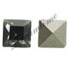Swarovski 4428 Square Fancy Stone Black Diamond 3mm