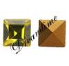 Swarovski 4401 Square Fancy Stone Lime 3mm