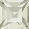 Dreamtime Crystal DC 4428 Square Fancy Stone Crystal Silver Shade 2mm