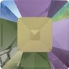 Swarovski 4428 Square Fancy Stone Crystal Paradise Shine 2mm