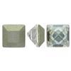 "Swarovski 4428 Square Rhinestones 6mm Crystal Silver Shade ""V"""