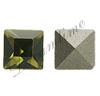 Swarovski 4401 Square Fancy Stone Khaki 2mm