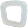 Swarovski 4437 Cosmic Square Fancy Stone White Opal 20mm