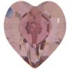 Swarovski 4884 Xilion Heart Fancy Stone Crystal Antique Pink 15.4x14mm