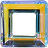 Swarovski 4439 Square Ring Fancy Stone Crystal AB 30mm