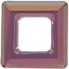Swarovski 4439 Square Ring Fancy Stone Crystal Lilac Shadow 14mm
