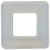 Swarovski 4439 Square Ring Fancy Stone White Opal 20mm