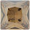 Swarovski 4447 Princess Square Fancy Stone Crystal Golden Shadow 12mm