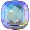 Swarovski 4461 Classical Square Fancy Stone Black Diamond Blue AB 16mm