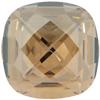 Swarovski 4461 Classical Square Fancy Stone Crystal Golden Shadow 12mm