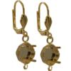 Empty Jewelry Earrings Setting with RING for Swarovski 4470 10 mm. Pair.