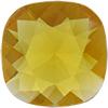 Swarovski 4470 Cushion Cut Square Fancy Stone Topaz (Unfoiled) 10mm
