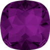 Swarovski 4470 Cushion Cut Square Fancy Stone Amethyst (Gold Foil) 8mm
