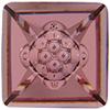 Swarovski 4481 Vision Square Fancy Stone Crystal Antique Pink 12mm